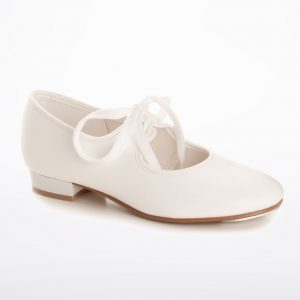 Low Heel PU White tap shoes Rainbow Dancewear Aberdeen